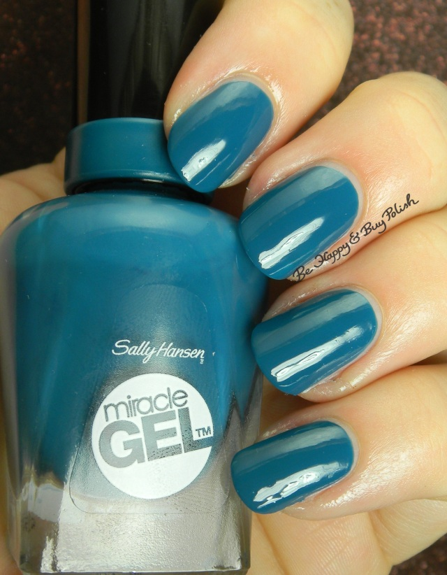 Sally Hansen Miracle Gel  Teal Twin | Be Happy And Buy Polish