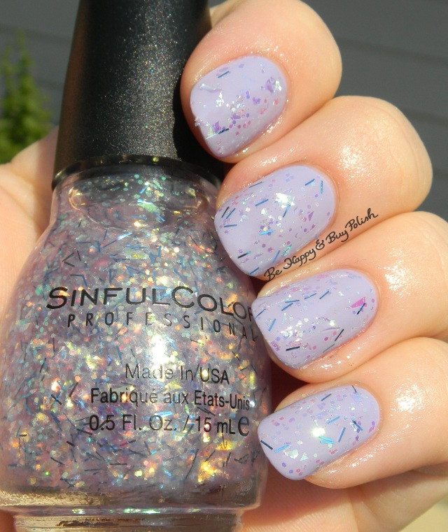 Sinful Colors Night Owl over Sinful Colors Truth or Lavendare | Be Happy And Buy Polish