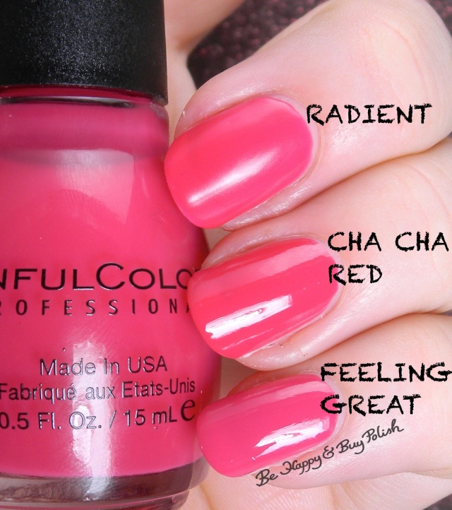 Sinful Colors RADient compared to Sinful Colors Cha Cha Red, Feeling Great | Be Happy And Buy Polish