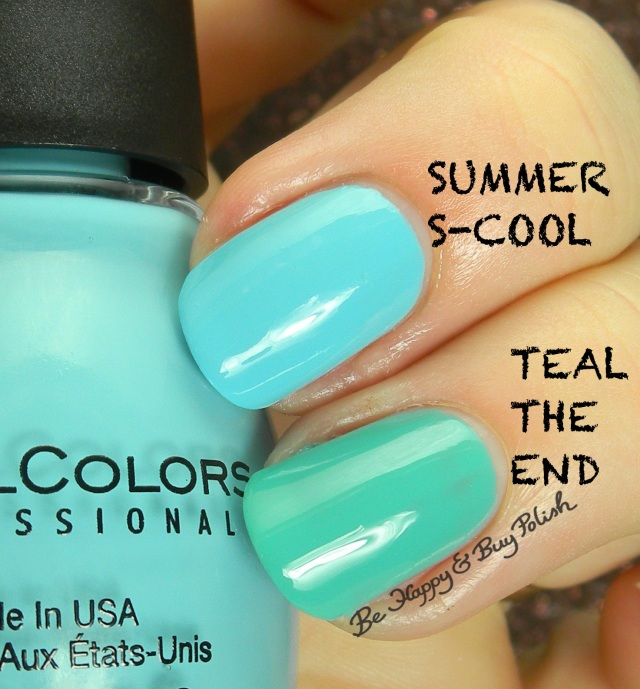 Sinful Colors Summer S-Cool compared to Sinful Colors Teal the End | Be Happy And Buy Polish