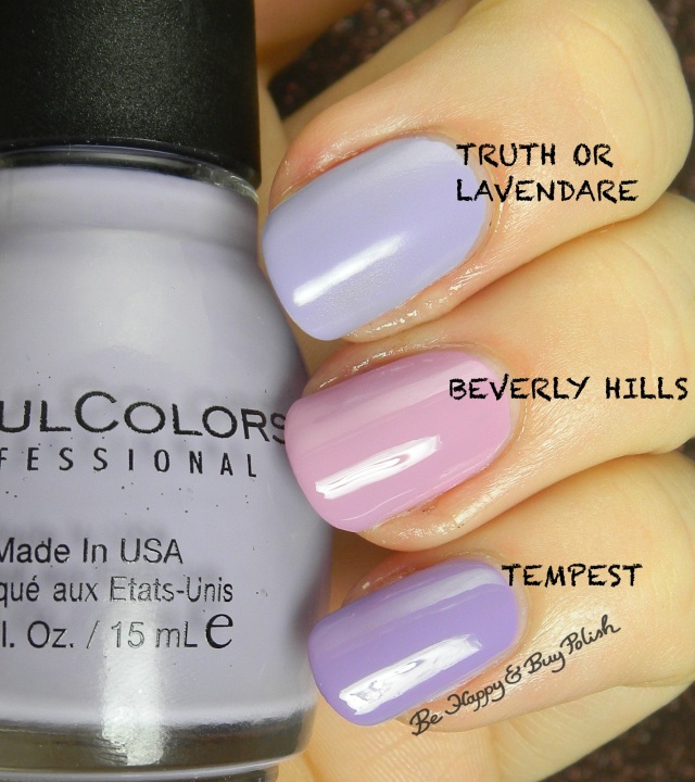Sinful Colors Truth or Lavendare compared to Sinful Colors Beverly Hills, Tempest | Be Happy And Buy Polish