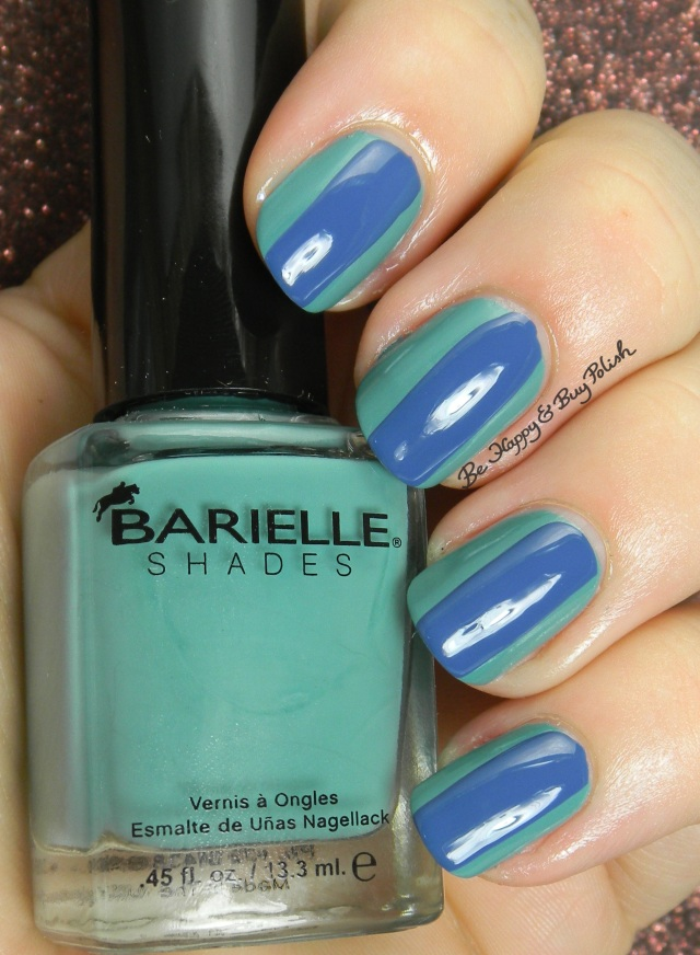 Barielle Ribbon and Lace, Barielle Pretty Woman striped nail art | Be Happy And Buy Polish