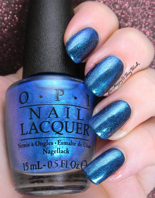 OPI I Sea You Wear OPI over OPI Black Onyx | Be Happy And Buy Polish