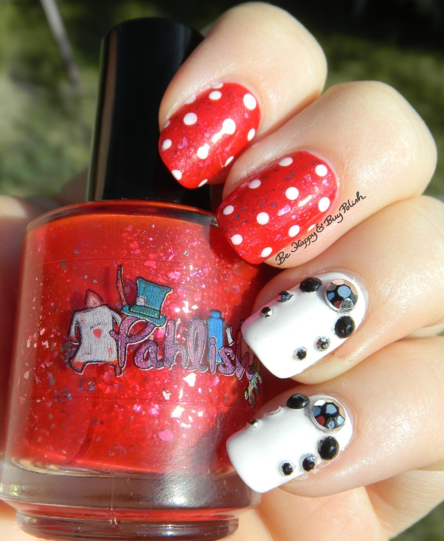 Pahlish The Sea Is Boiling Hot skittlette with dots and studs | Be Happy And Buy Polish