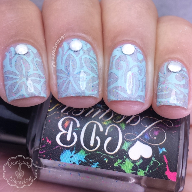 Simple Stamped Manicure by Manicured & Marvelous