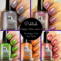 Pahlish Happy Holo-ween II collection and comparisons