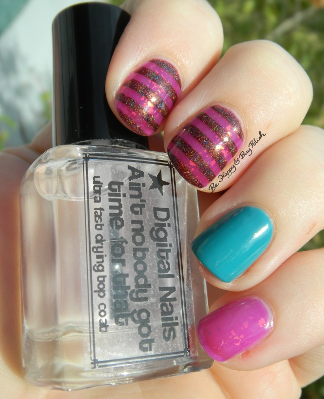 Pahlish Hundred Eyes, Elevation Polish Angels are the Yeti of the Clouds 2, OPI Taylor Blue striped manicure sun photo | Be Happy And Buy Polish