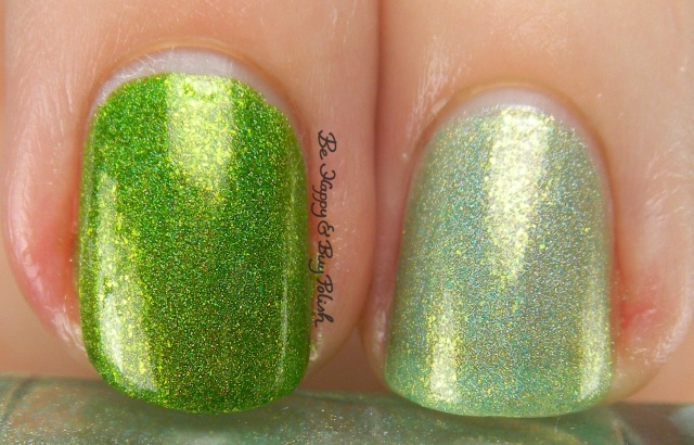 Pahlish Sour Caramel Apple comparison Trick or Mint | Be Happy And Buy Polish