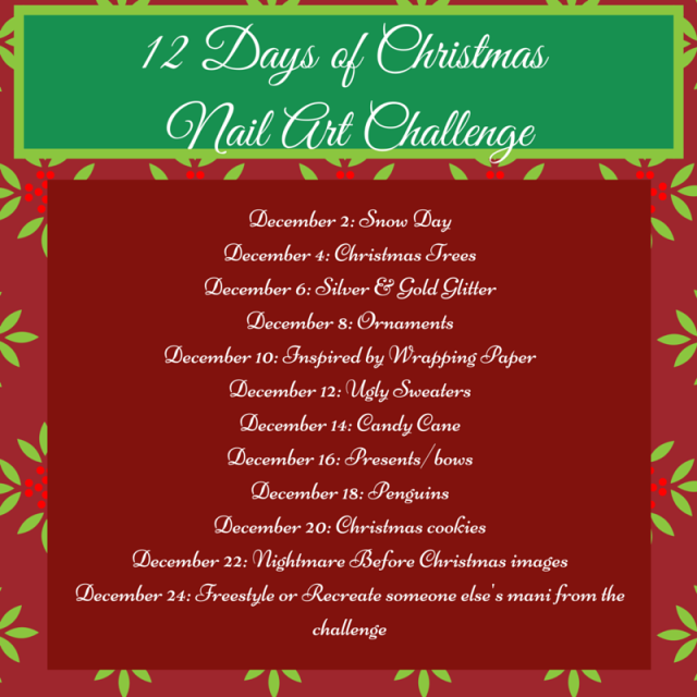 12 Days of Christmas nail art challenge 2015 | Be Happy And Buy Polish