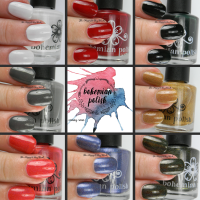 Bohemian Polish Adirondack Winter collection swatches + review