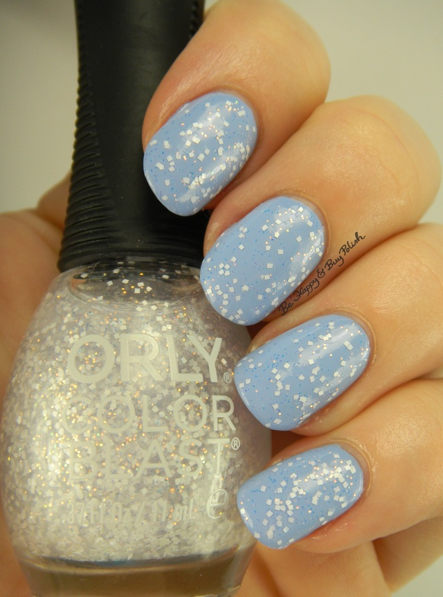 Cinderella Orly Color Blast Fairy Dust over Orly Color Blast Bibbidi Bobbidi Blue | Be Happy And Buy Polish