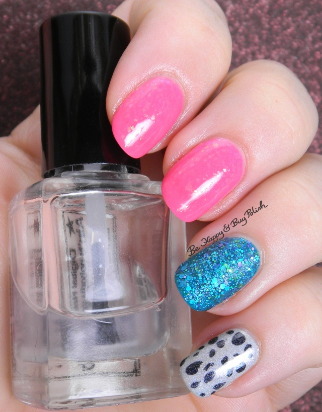 Pink and Teal skittlette | Be Happy And Buy Polish