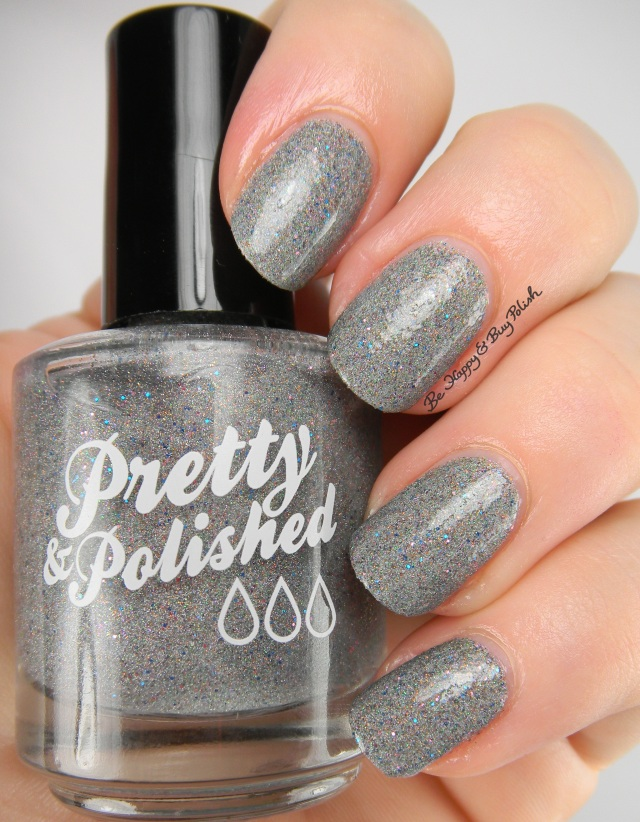 Pretty & Polished Tinsel Hockey with top coat | Be Happy And Buy Polish
