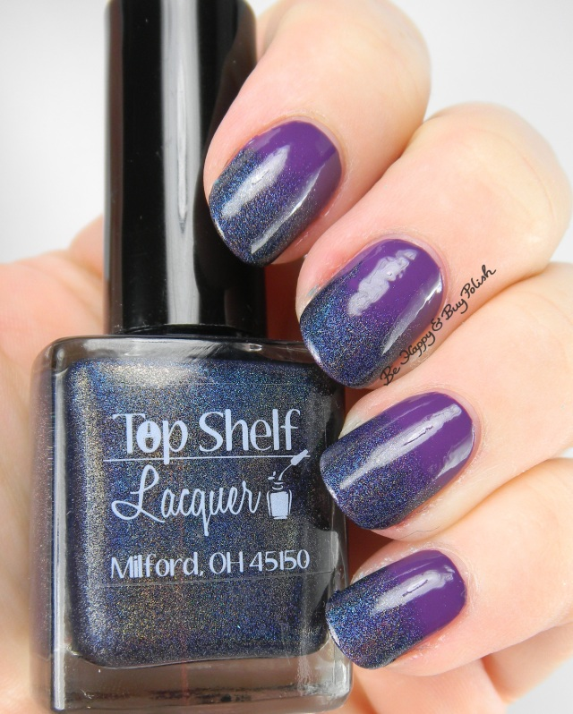 Top Shelf Lacquer Blackberry Margarita, Firecracker Lacquer The Grape Beyond gradient | Be Happy And Buy Polish