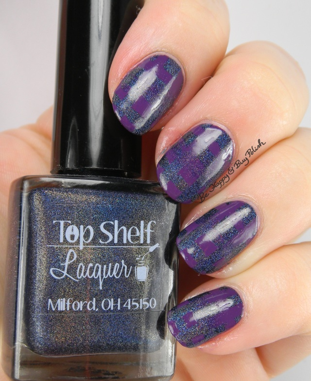 Top Shelf Lacquer Blackberry Margarita, Firecracker Lacquer The Grape Beyond reciprocal gradient | Be Happy And Buy Polish