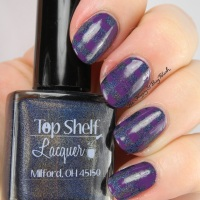 Top Shelf Lacquer Blackberry Margarita + Firecracker Lacquer Grape Beyond reciprocal gradient nail art
