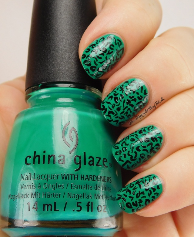 China Glaze Four Leaf Clover and Liquid Leather animal print | Be Happy And Buy Polish