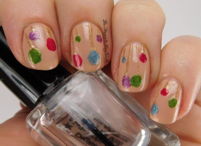 Christmas ornament nail art | Be Happy And Buy Polish