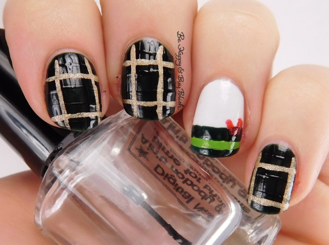 Christmas Plaid stripes nail art | Be Happy And Buy Polish