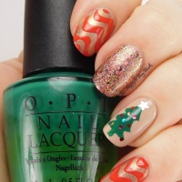 Christmas Manicure with OPI, Fair Maiden Polish, and Polish 'M