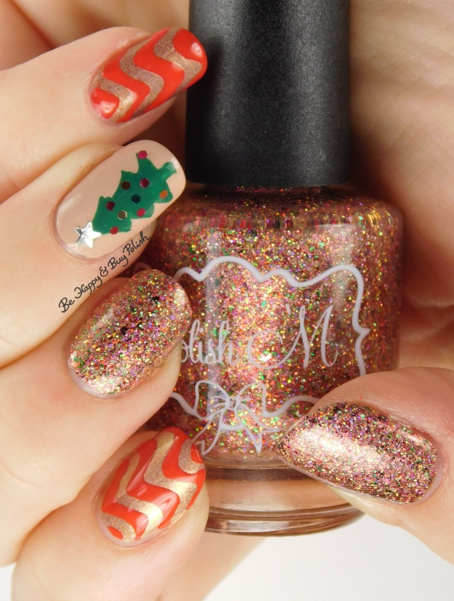 Christmas tree mani with Polish 'M Home for the Holidays | Be Happy And Buy Polish