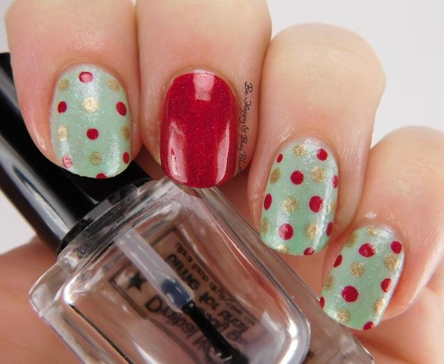 Christmas wrapping paper nail art | Be Happy And Buy Polish