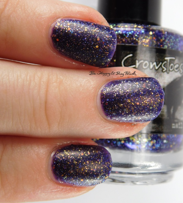 CrowsToes Jotunheim with matte top coat 3-finger pose | Be Happy And Buy Polish