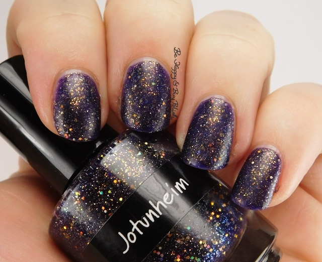 CrowsToes Jotunheim with matte top coat side pose | Be Happy And Buy Polish