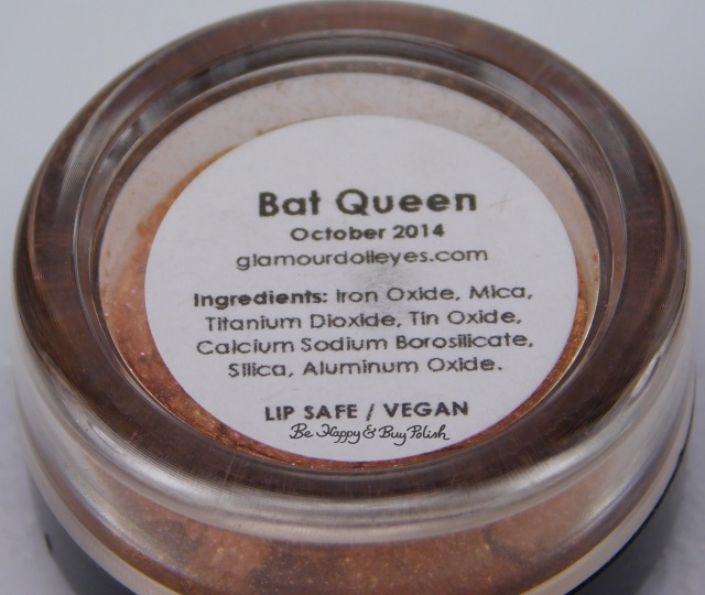 Glamour Doll Eyes Bat Queen ingredients label | Be Happy And Buy Polish