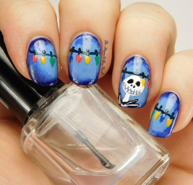 Jack Skellington Nightmare Before Christmas nail art | Be Happy And Buy Polish