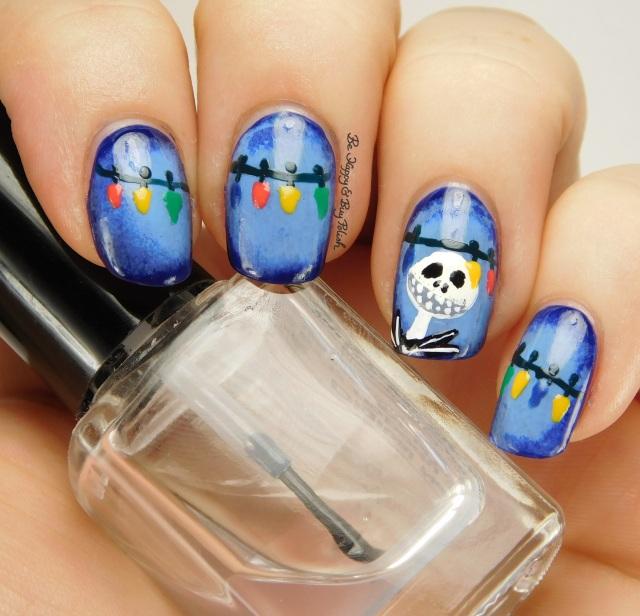 Jack Skellington Nightmare Before Christmas nail art | Be Happy And Buy Polish