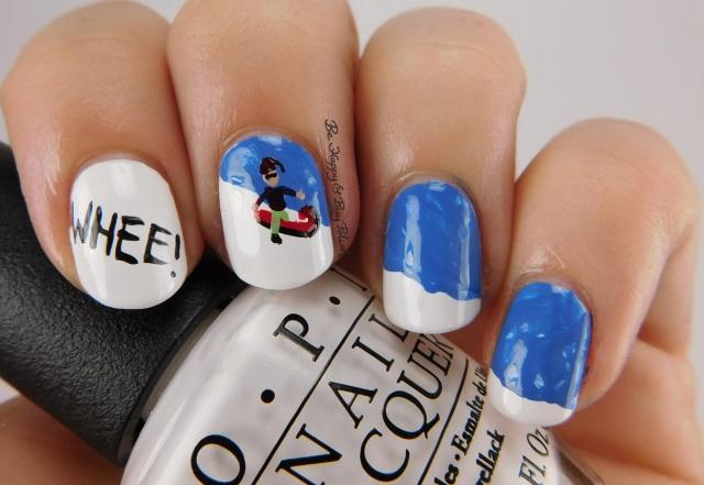 kid sledding nail art   Be Happy And Buy Polish