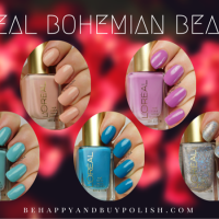 L'Oreal Bohemian Beauty nail polishes swatches + review