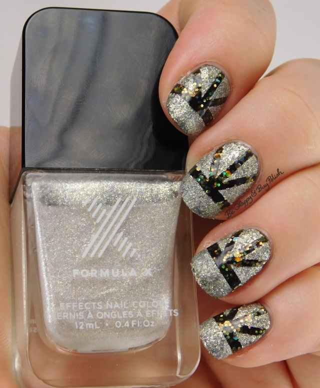 Sephora Formula X Moon Walk, Explosive art deco New Years Eve nail art | Be Happy And Buy Polish