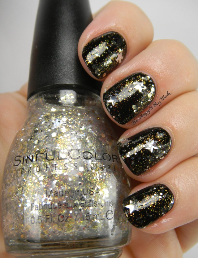 Sinful Colors Star Studded over Black on Black | Be Happy And Buy Polish