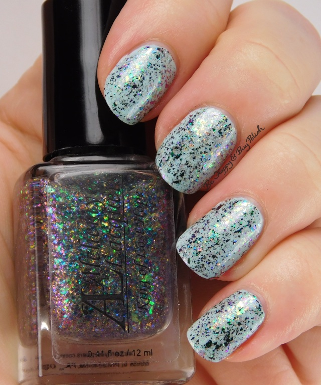 Alchemy Lacquers King of Lost Hope over Milani Mint Crush | Be Happy And Buy Polish