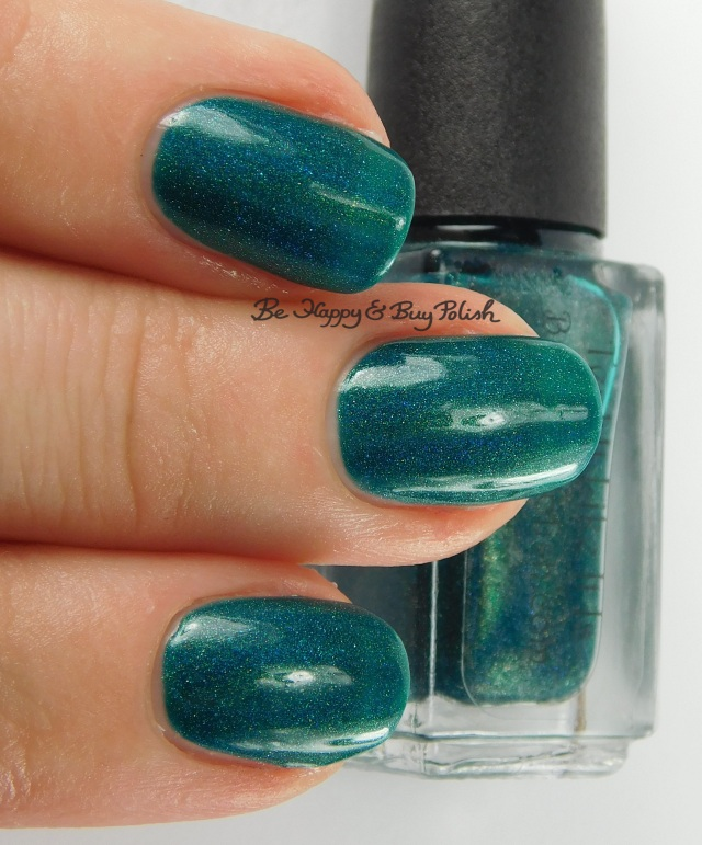Bad Bitch Polish Teal It Like It Is 3-finger pose | Be Happy And Buy Polish