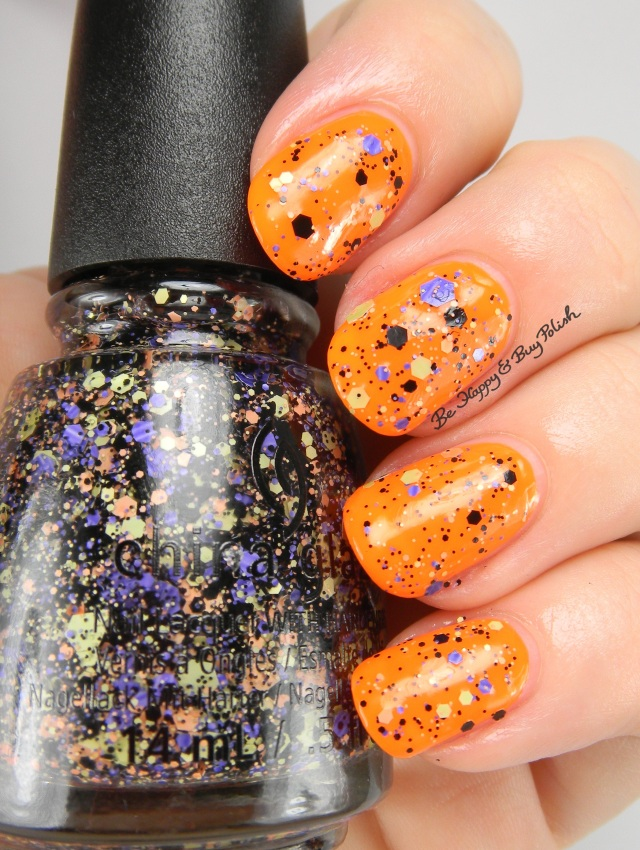 China Glaze Ghostess with the Mostess over Lady and the Vamp | Be Happy And Buy Polish