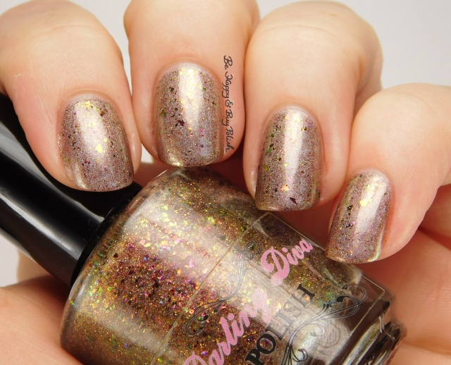 Darling Diva Polish Cover It In Gravy over Firecracker Lacquer Stuff That Turkey side pose | Be Happy And Buy Polish