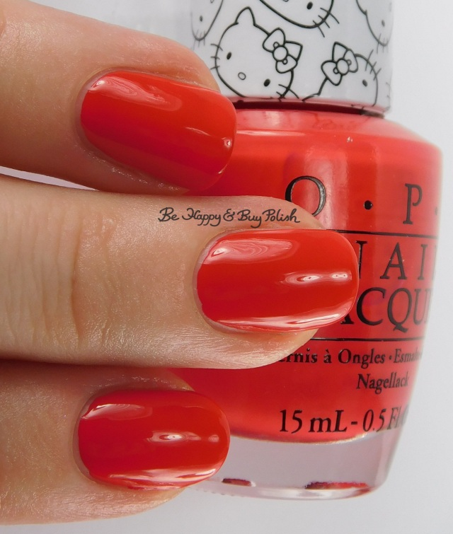 Hello Kitty OPI 5 Apples Tall 3-finger pose | Be Happy And Buy Polish