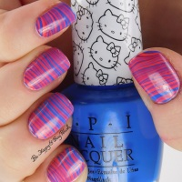 Hello Kitty by OPI nail polish collection [partial] + watermarble