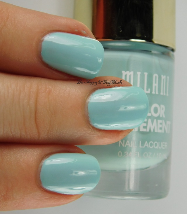 Milani Mint Crush 3-finger pose | Be Happy And Buy Polish