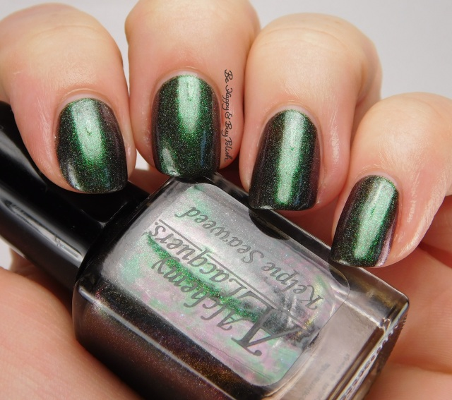 Alchemy Lacquers Kelpie Seaweed side pose | Be Happy And Buy Polish