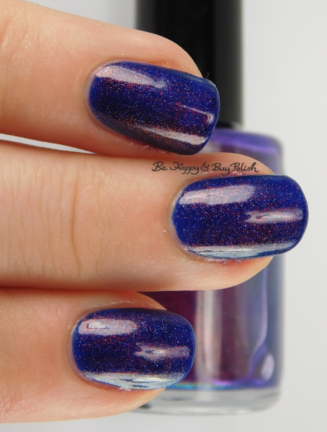 Baroness X Doomfire over OPI Give Me Space 3-finger pose | Be Happy And Buy Polish