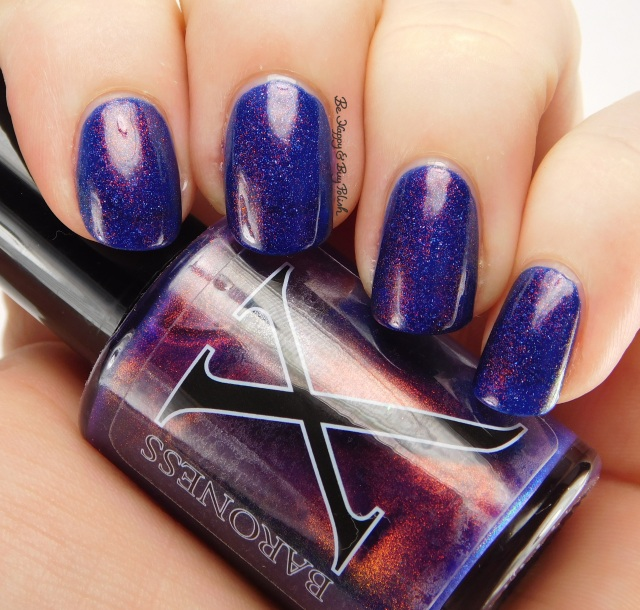 Baroness X Doomfire over OPI Give Me Space | Be Happy And Buy Polish