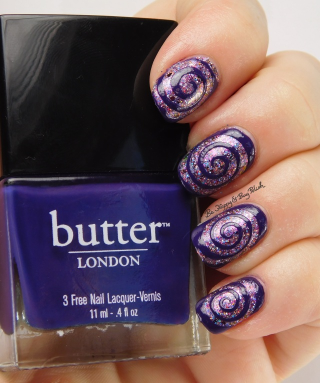 butter LONDON Bramble with Polish 'M Sugar Spun Plums | Be Happy And Buy Polish