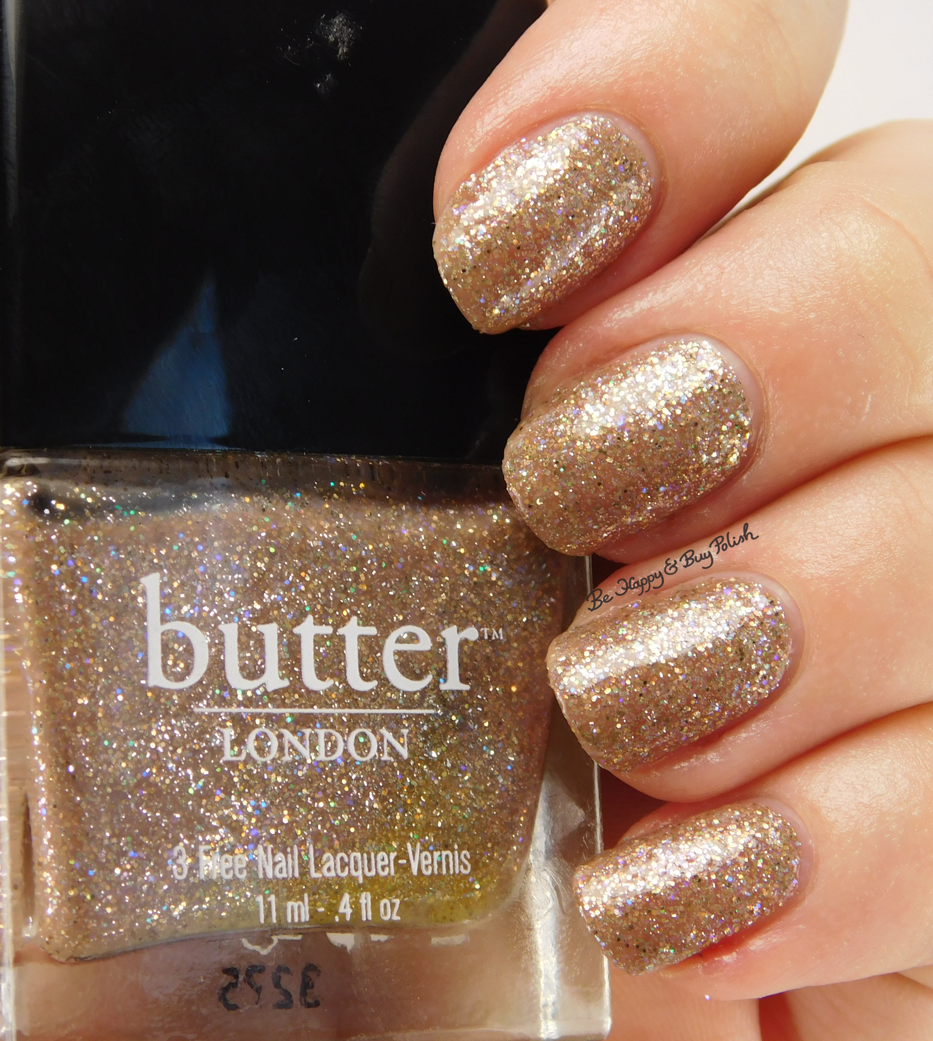 butter LONDON Lucy in the Sky nail polish swatch + review | Be Happy ...