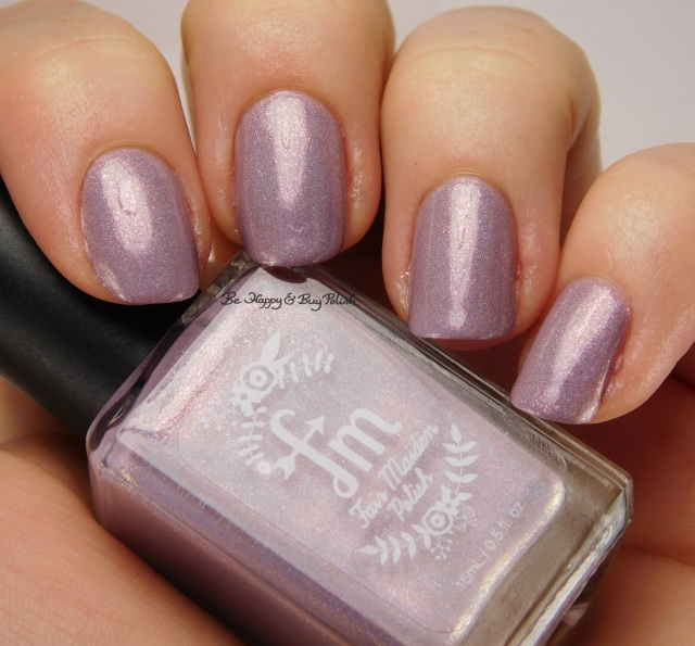 Fair Maiden Polish Afterglow side pose | Be Happy And Buy Polish