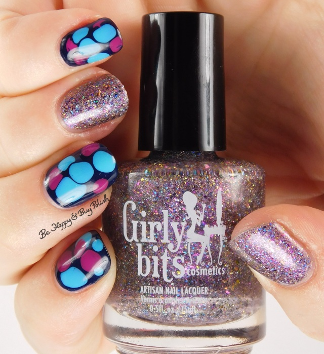Girly Bits blobbicure with Witch I'm Fabulous! accent nail full hand pose | Be Happy And Buy Polish