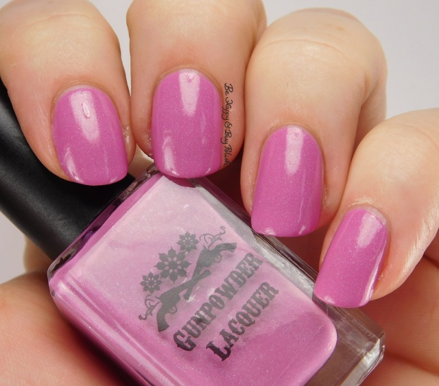 Gunpowder Lacquer Parton Me, Dolly side pose | Be Happy And Buy Polish
